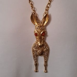 Jewelry - Juliana D & E Democrat Donkey Necklace